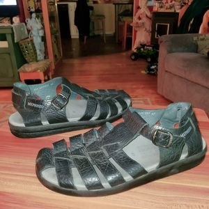 Mephisto Leather Air Relax Shock Absoring Sandals